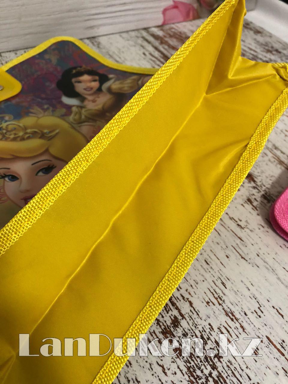 Детская папка-портфель с пластиковыми ручками Принцессы Диснея формат A4 желтая - фото 6