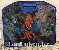 Детская папка-портфель с встроенными пластиковыми ручками Человек Паук (Spider Man) формат A4 синяя