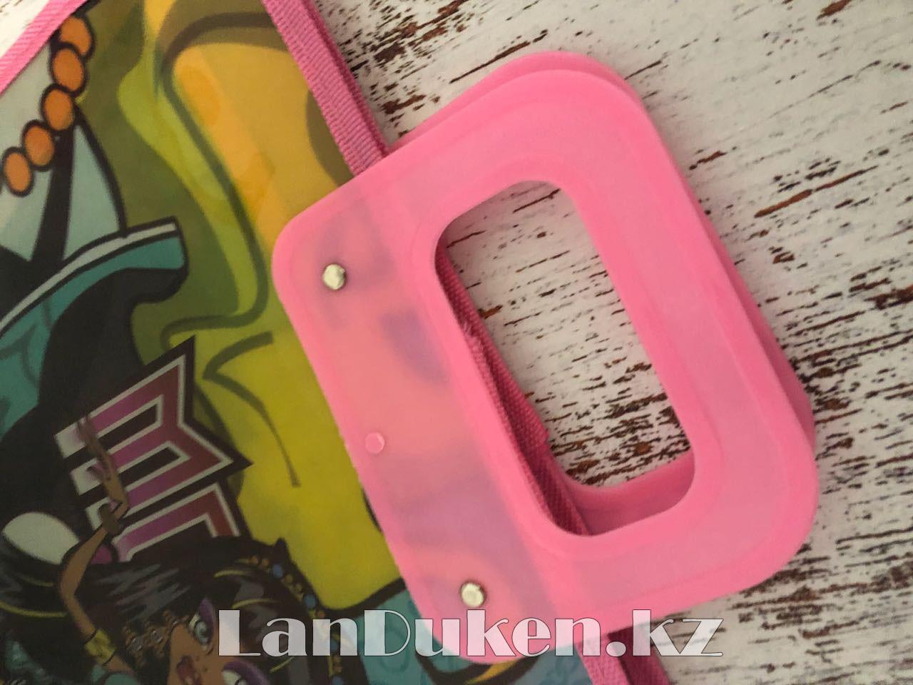 Детская папка-портфель с пластиковыми ручками Монстер Хай (Monster High) формат A4 розовая - фото 3