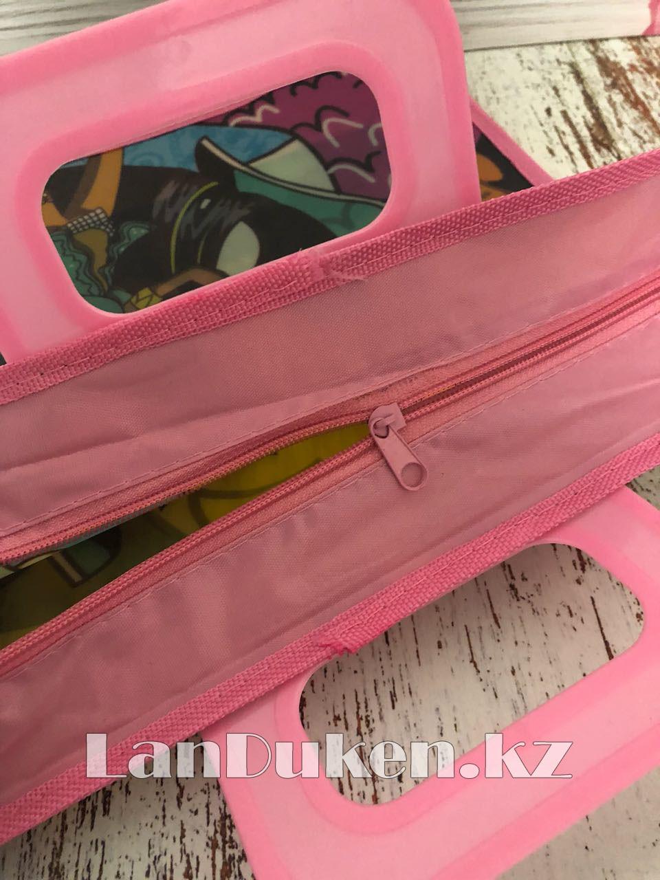 Детская папка-портфель с пластиковыми ручками Монстер Хай (Monster High) формат A4 розовая - фото 4