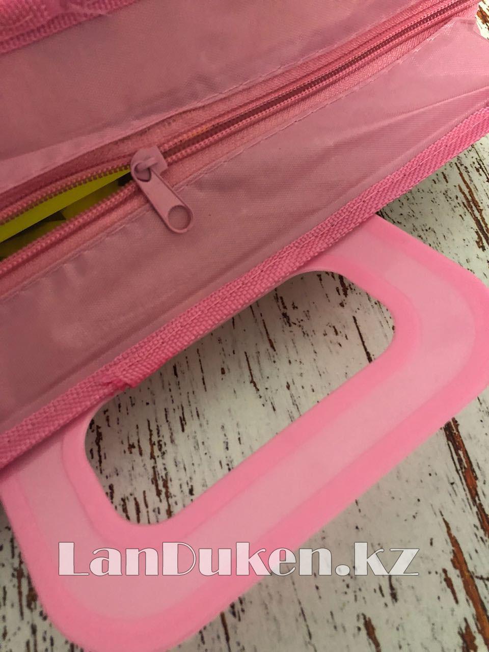 Детская папка-портфель с пластиковыми ручками Монстер Хай (Monster High) формат A4 розовая - фото 5