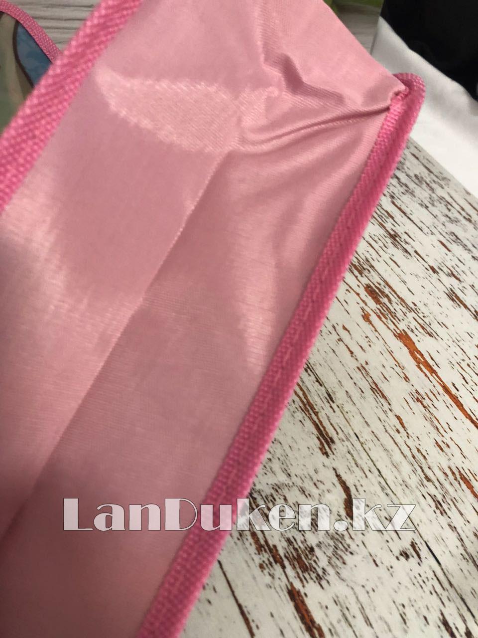 Детская папка-портфель с пластиковыми ручками Монстер Хай (Monster High) формат A4 розовая - фото 6