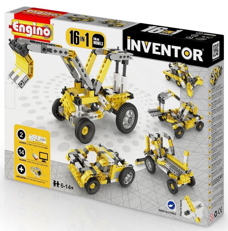 """Engino конструктор Inventor """"Спецтехника 16 в 1"""" 125 деталей, Энджино"""