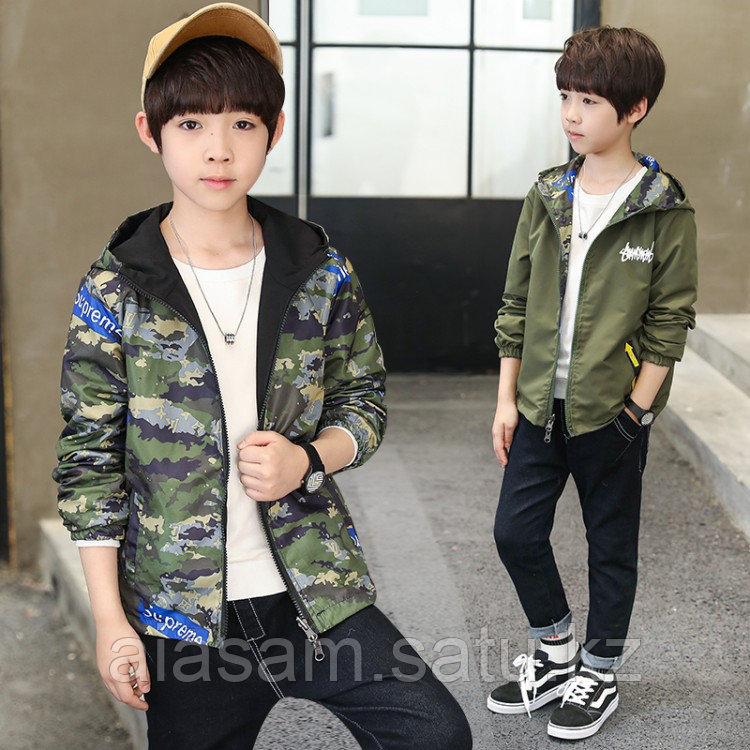 Двухсторонняя ветровка для мальчика подростка
