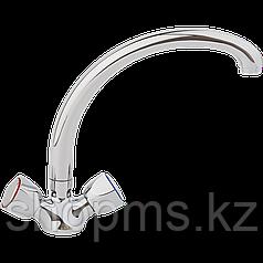 Смеситель ARCO кухня маховик метал., А4509