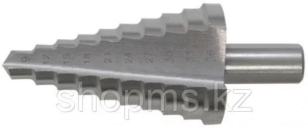 Сверло ступенчатое HSS по металлу, 13 ступеней, 6-30 мм