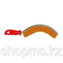 Корщетка с изогнутой пластиковой ручкой латунированная вогнутая тип С