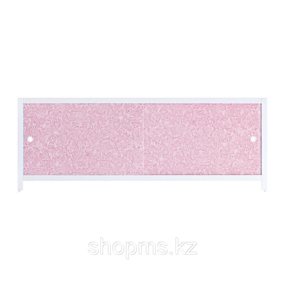 """Экран под ванну """"Ультра легкий"""" 1,48 м """"Розовый иней"""""""