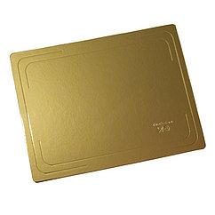 Pasticciere. Подложка прямоугольная усиленная золото 370х280 мм ( Толщина 2,5 мм )* 10 шт/упак