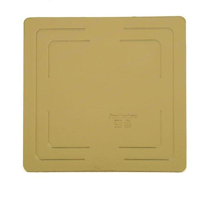 Pasticciere. Подложка прямоугольная усиленная золото 400х400 мм ( Толщина 2,5 мм )* 10 шт/упак