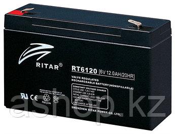 Батарея необслуживаемая (аккумулятор) Ritar RT6120 (6V 12 Ah), Емкость аккумулятора: 12 Ah, Разъемы: F1/F2