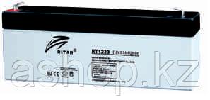 Батарея необслуживаемая (аккумулятор) Ritar RT1223 (12V 2,3 Ah), Емкость аккумулятора: 2,3 Ah, Разъемы: F1