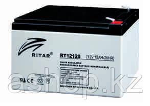 Батарея необслуживаемая (аккумулятор) Ritar RT12120 (12V 12 Ah), Емкость аккумулятора: 12 Ah, Разъемы: F1/F2