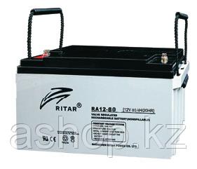 Батарея необслуживаемая (аккумулятор) Ritar RA12-80 (12V 80 Ah), Емкость аккумулятора: 80 Ah, Разъемы: F5/F12