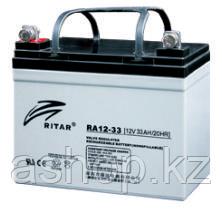Батарея необслуживаемая (аккумулятор) Ritar RA12-33 (12V 33 Ah), Емкость аккумулятора: 33 Ah, Разъемы: F7/F11