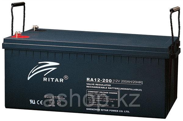 Батарея необслуживаемая (аккумулятор) Ritar RA12-200 (12V 200 Ah), Емкость аккумулятора: 200 Ah, Разъемы: F10/