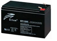 Батарея необслуживаемая (аккумулятор) Ritar RT1290 (12V 9 Ah), Емкость аккумулятора: 9 Ah, Разъемы: F1/F2