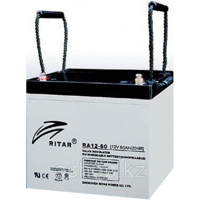 Батарея необслуживаемая (аккумулятор) Ritar RA12-60 (12V 60 Ah), Емкость аккумулятора: 60 Ah, Разъемы: F11/F15
