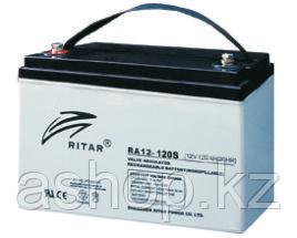 Батарея необслуживаемая (аккумулятор) Ritar RA12-120S (12V 120 Ah), Емкость аккумулятора: 120 Ah, Разъемы: F5/