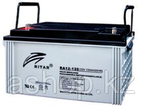 Батарея необслуживаемая (аккумулятор) Ritar RA12-120 (12V 120 Ah), Емкость аккумулятора: 120 Ah, Разъемы: F5/F