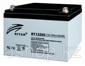 Батарея необслуживаемая (аккумулятор) Ritar RT12260 (12V 26 Ah), Емкость аккумулятора: 26 Ah, Разъемы: F3/F13