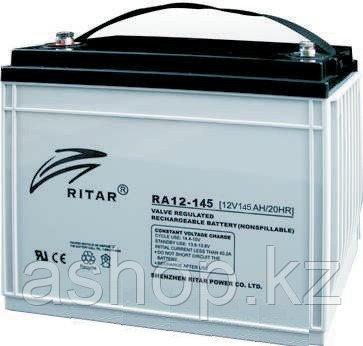 Батарея необслуживаемая (аккумулятор) Ritar RA12-145 (12V 145 Ah), Емкость аккумулятора: 145 Ah, Разъемы: F5/F