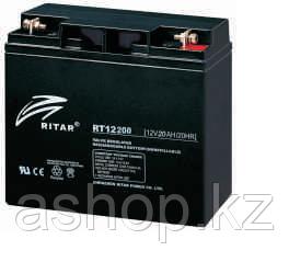 Батарея необслуживаемая (аккумулятор) Ritar RT12200 (12V 20 Ah), Емкость аккумулятора: 20 Ah, Разъемы: F3/F13