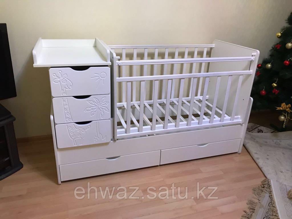 Детская кроватка трансформер 4 ящика