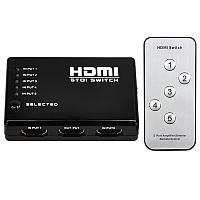 Noname Разветвитель HDMI (сплиттер) 5 входа на 1 выход пульт