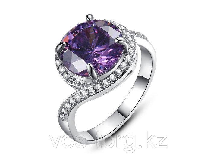 """Кольцо-перстень """"Фиолетовый топаз"""""""