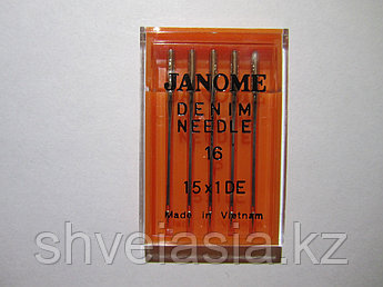 Иголки №16-100 для тяжелых тканей. (джинса) Elna Janome Merrylock