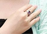 """Кольцо-перстень """"Фиолетовый топаз"""", фото 2"""