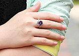 """Кольцо-перстень """"Фиолетовый топаз"""", фото 3"""