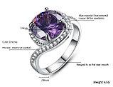 """Кольцо-перстень """"Фиолетовый топаз"""", фото 4"""