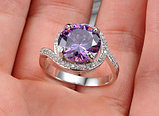 """Кольцо-перстень """"Фиолетовый топаз"""", фото 5"""