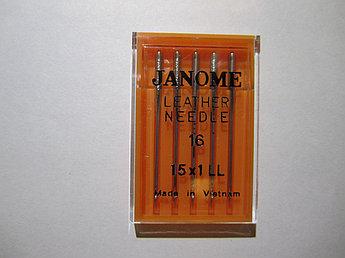 Иголки Janome для кожи № 16-100 Elna Janome Merrylock