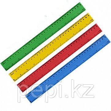 Линейка пластиковая Tukzar, длина 30 см, 2 шкалы (см, дюйм), ассорти