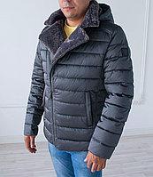Куртка мужская зимняя  Vivacana  отделка на воротнике, короткая