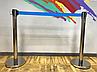 Серебристая стойка с вытяжной лентой синего цвета, фото 7