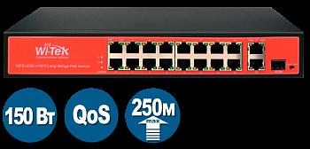 Коммутатор Wi-Tek WI-PS518GV с PoE