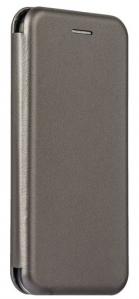 Кожаный чехол Open series на Huawei Y6 Prime 2018 (серый)