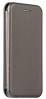 Кожаный чехол Open series на Huawei Y6 Prime 2018 (серый), фото 1