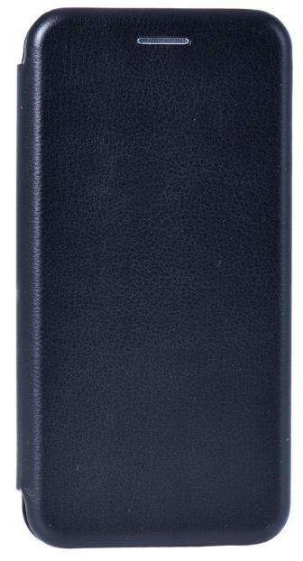 Кожаный чехол Open series для Samsung Galaxy J4 2018 (черный)
