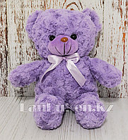 Мягкая игрушка мишка кудрявый 35 см фиолетовый