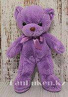 Мягкая игрушка мишка Нестор 38 см фиолетовый