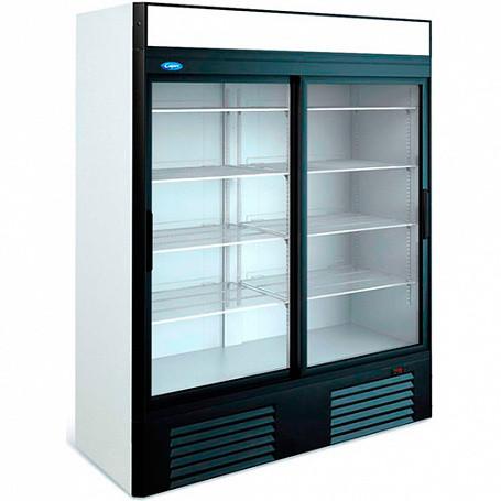 Шкаф среднетемпературный V=1500л КАПРИ 1,5СК (стеклянные двери, купе,канапе) 0..+7,1595х710х2050 мм)