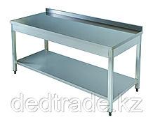Рабочий стол с полкой нержавеющая сталь Размеры 1200*600*850 мм