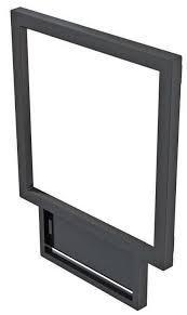 Стекло для приборов (ОП-100) 100×100 мм с рамкой