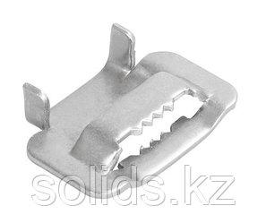 Скрепа для монтажной ленты НС-20-Т (с зубьями, C304)