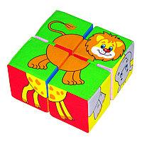 """Мякиши кубики """"Собери картинку"""" Животные Африки"""